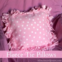 Fleece Tie Pillows
