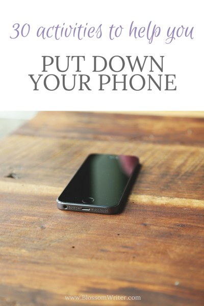 Pinterest 30 Activities to Help You Put Down Your Phone