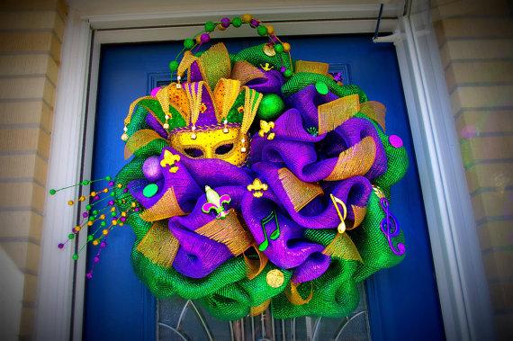 Mardi Gras Wreaths