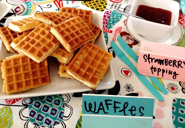 Cute vintage themed waffle bar