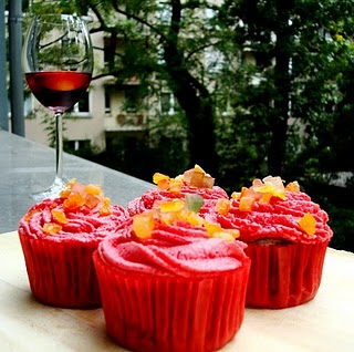 Sangria Alcohol Infused Cupcakes