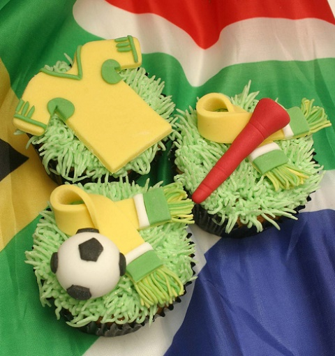 Cute world cup cupcakes!