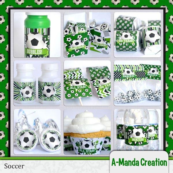 Soccer Party Prontables-Lovet his whole set!