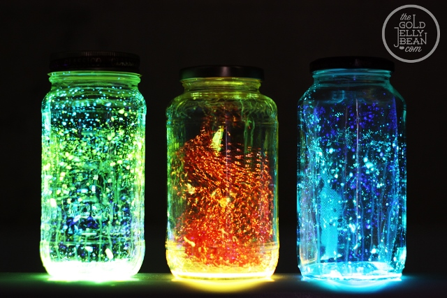 15 glow in the dark party ideas b lovely events diy glow jars for a sweet 16 glow in the dark party see more glow solutioingenieria Choice Image
