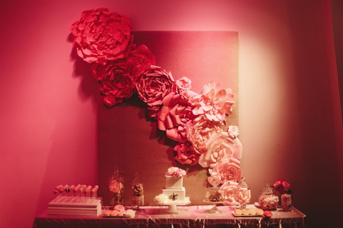 Pink Ombre Gorgeous paper flower backdrop