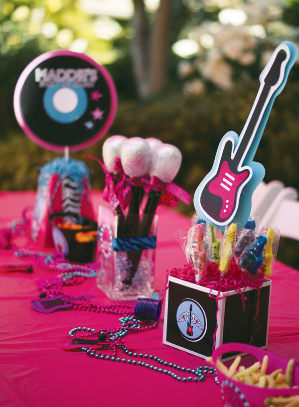 Decoration Theme Guitare : Rock on sista a girls star party b lovely events