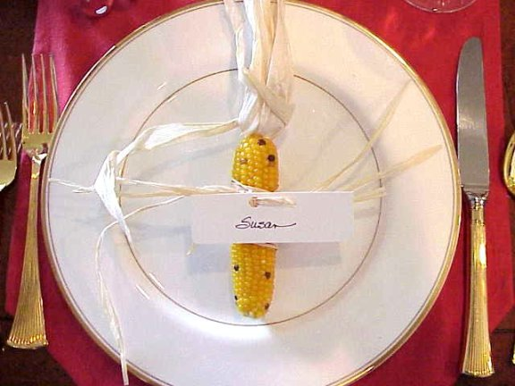 Cord place settings for Thanksgiving