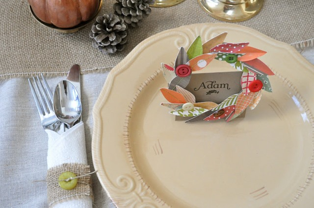 Cute thanksgiving place setting idea