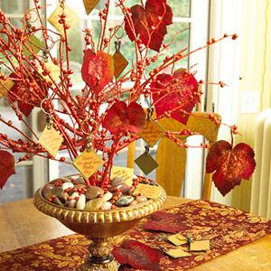 Easy DIY Thanksgiving Branch Centerpiece