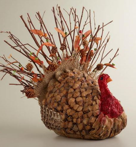 Natural Turkey Decoration for Thanksgiving