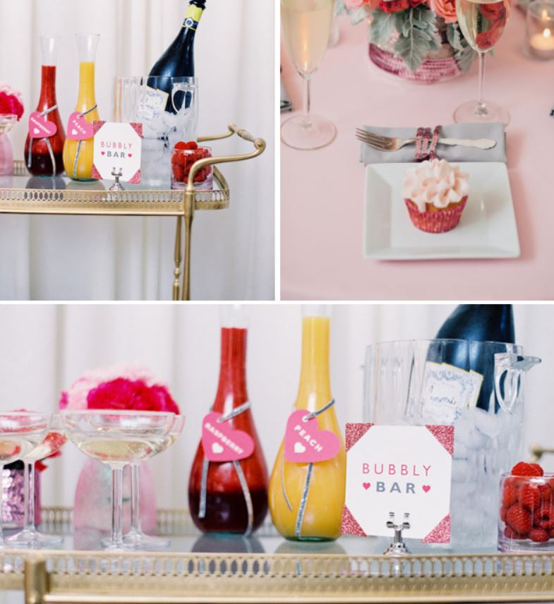 Cute And Pink Champagne Bar For new years