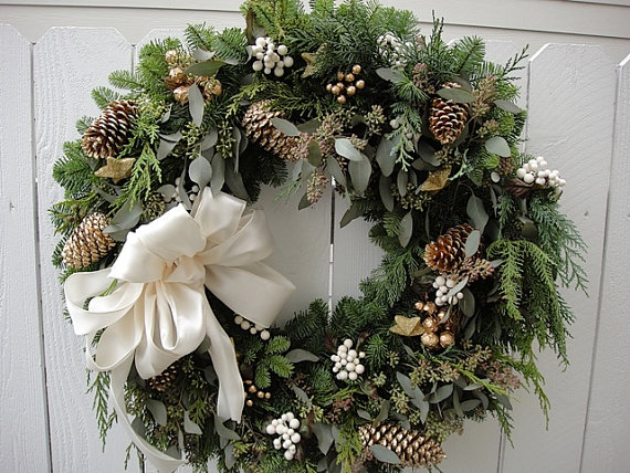 Evergreen wreath for christmas