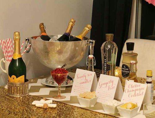 Fancy Champagne bar
