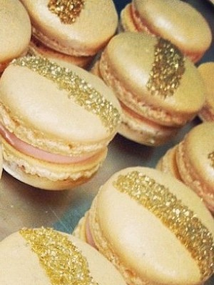 Gold Glitter Macarons