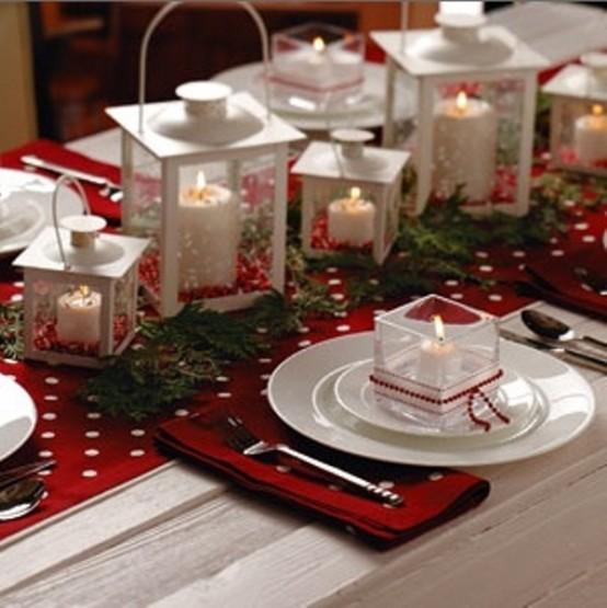 Lantern Christmas Centerpiece