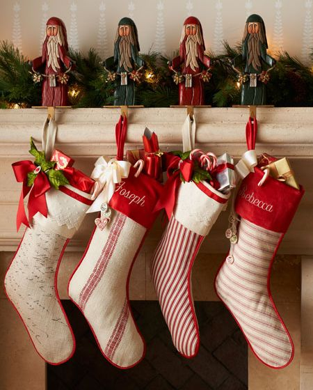 Red and White Christmas Stocks