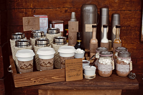 Rustic Hot Cocoa bar