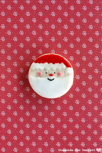 These Santa cookies are too cute for words!