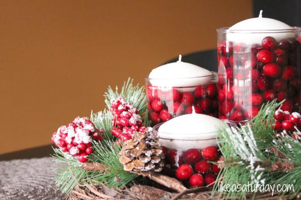 winter christmas centerpiece