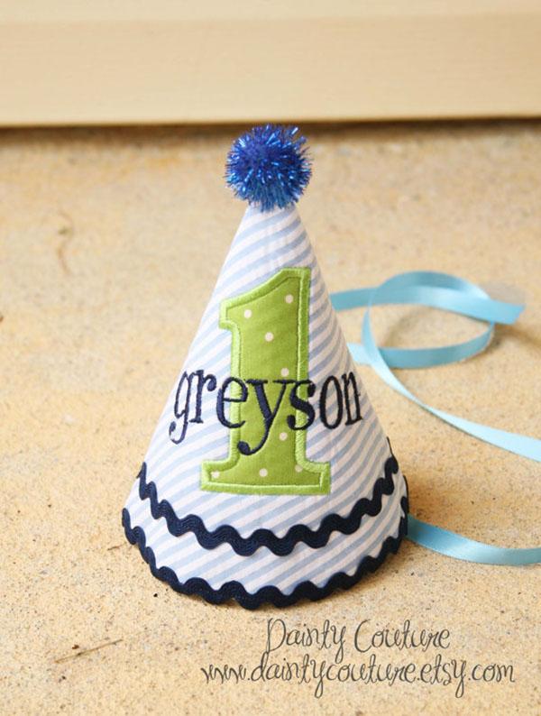 Cute Striped Birthday hat