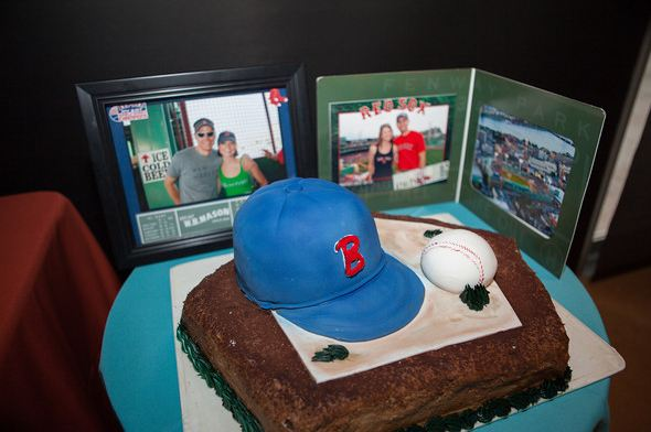 Red Sox grooms cake