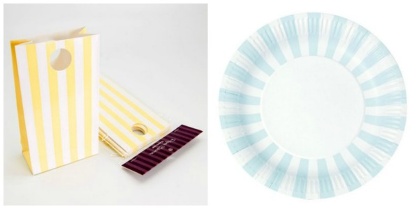 Striped Party Supplies