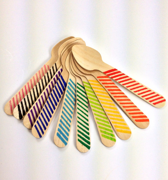 Striped party spoon!