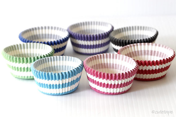 stripe cupcake liners for a party!