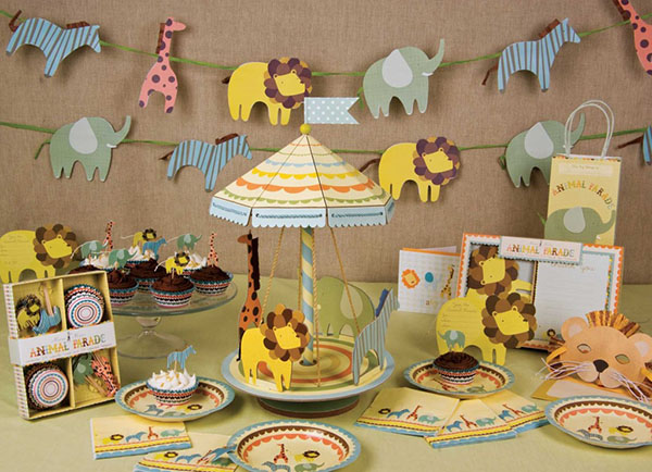 Charming Baby Shower Centerpieces For Boys Safari Animal Theme