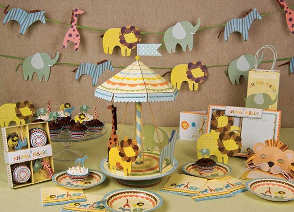Baby Shower Centerpieces for Boys Safari Animal Theme