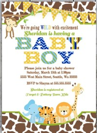 It's A Wild Time With A Boys Safari Baby Shower!