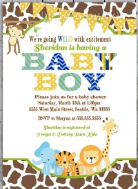 It's A Wild Time With A Boys Safari Baby Shower! - B ...