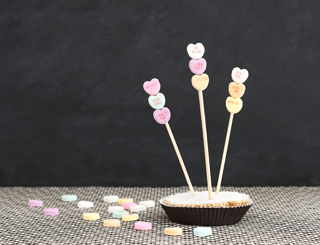 Conversation heart Valentine Skewers!