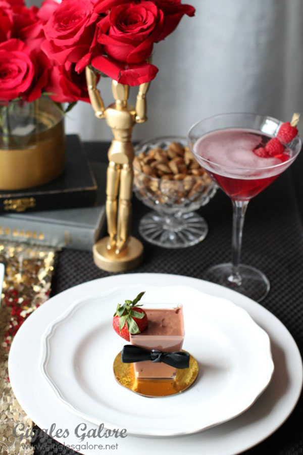 Cute little tuxedo dessert cups for the oscars!