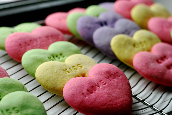 Darling Coversation Heart Cookies