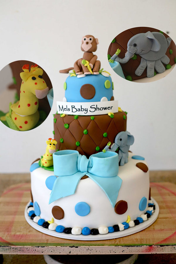 Love this boys safari baby shower cake!