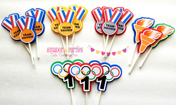 Olympic Cupcake toppers!