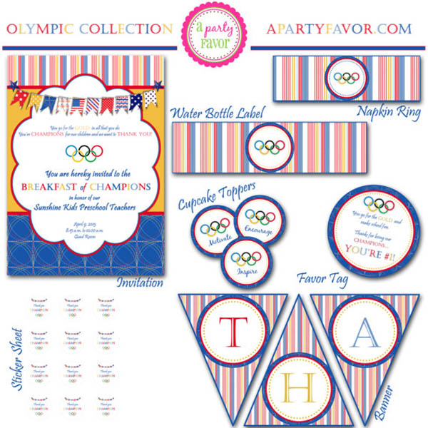 Olympic Party printable set
