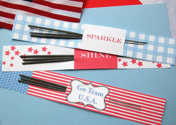 Olympic party printable flags, sparklers and more!