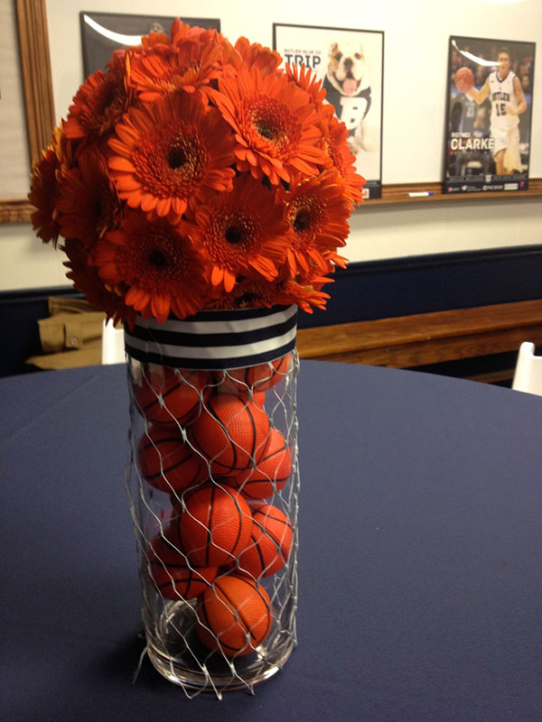 Lovely Basketball Centerpieces!  B Lovely Events
