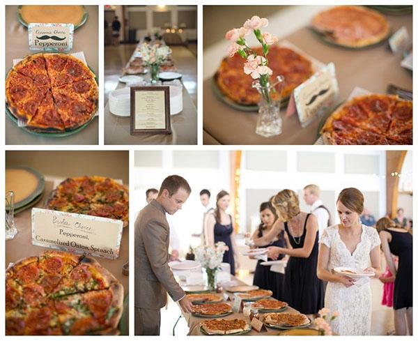 Gourmet Pizza Bar At A Wedding!