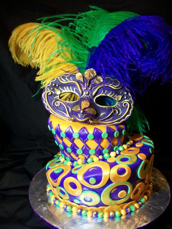Lovely Mardi Gras Cake!