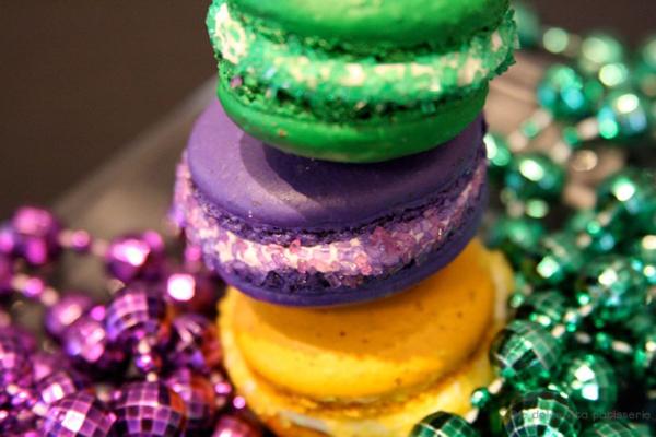 Mardi Gras Macarons