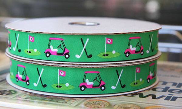 Oh my gosh I love this golf themed ribbon!