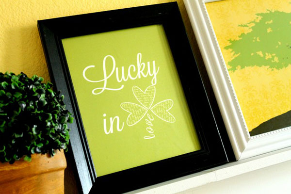 St. Patrick's Day Lucky In Love Free Printable