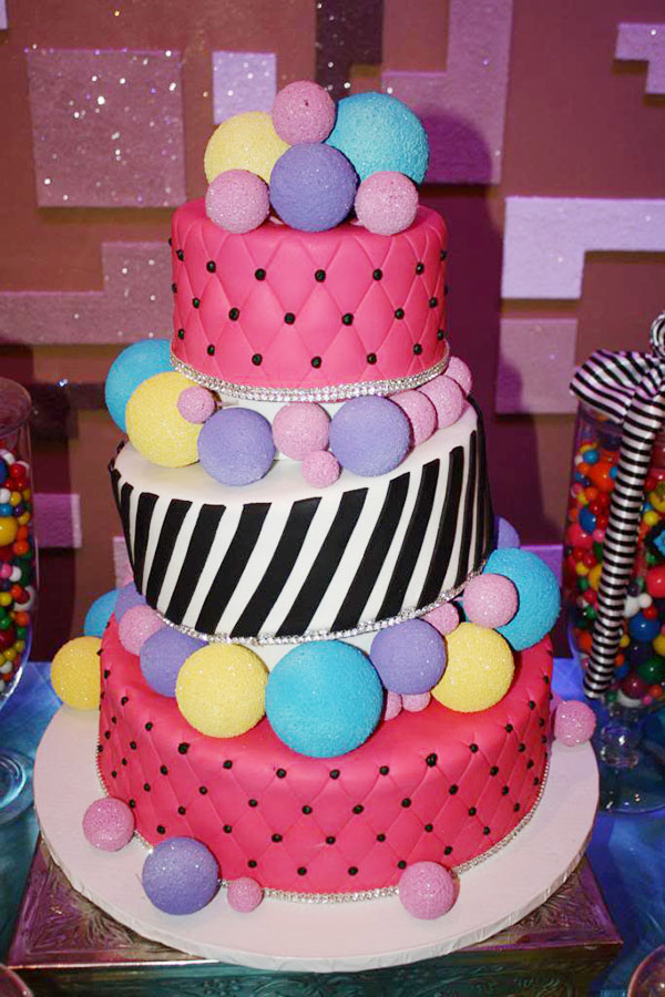 Sweet 16 Cirque Du Soleil Cake- B. Lovely Events