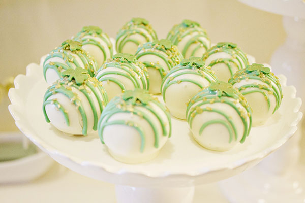 These Cake Balls For Our St. Patrick's Day Engagement Party Were The Best! -B. Lovely Events