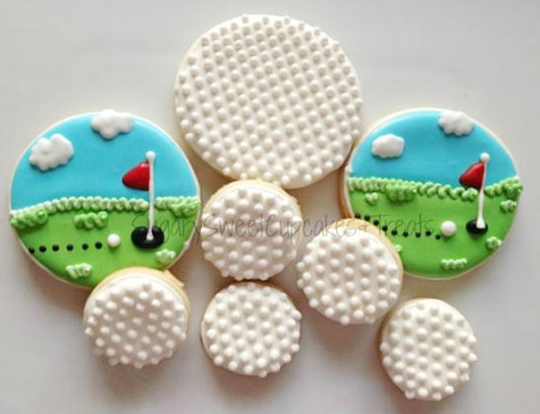 These Golf Cookies are so cute!