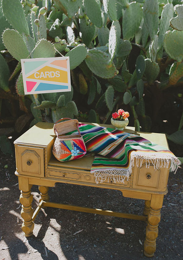 Cute Card Station for a Mexican themed wedding