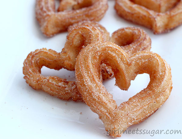 DIY Heart Churros- Love these for Cinco de mayo